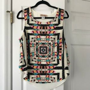 Mara Hoffman geometric print woven tank- Size L